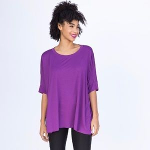 A&D Boxy Tee in a Plum Purple